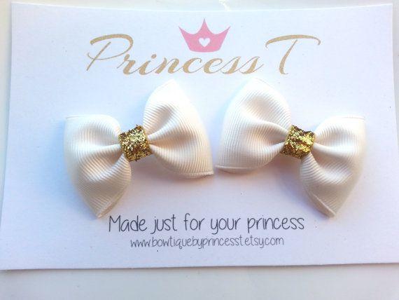 Girls/Baby Hair Clip Set Mini Hair Bow Clip by BowtiquebyprincessT