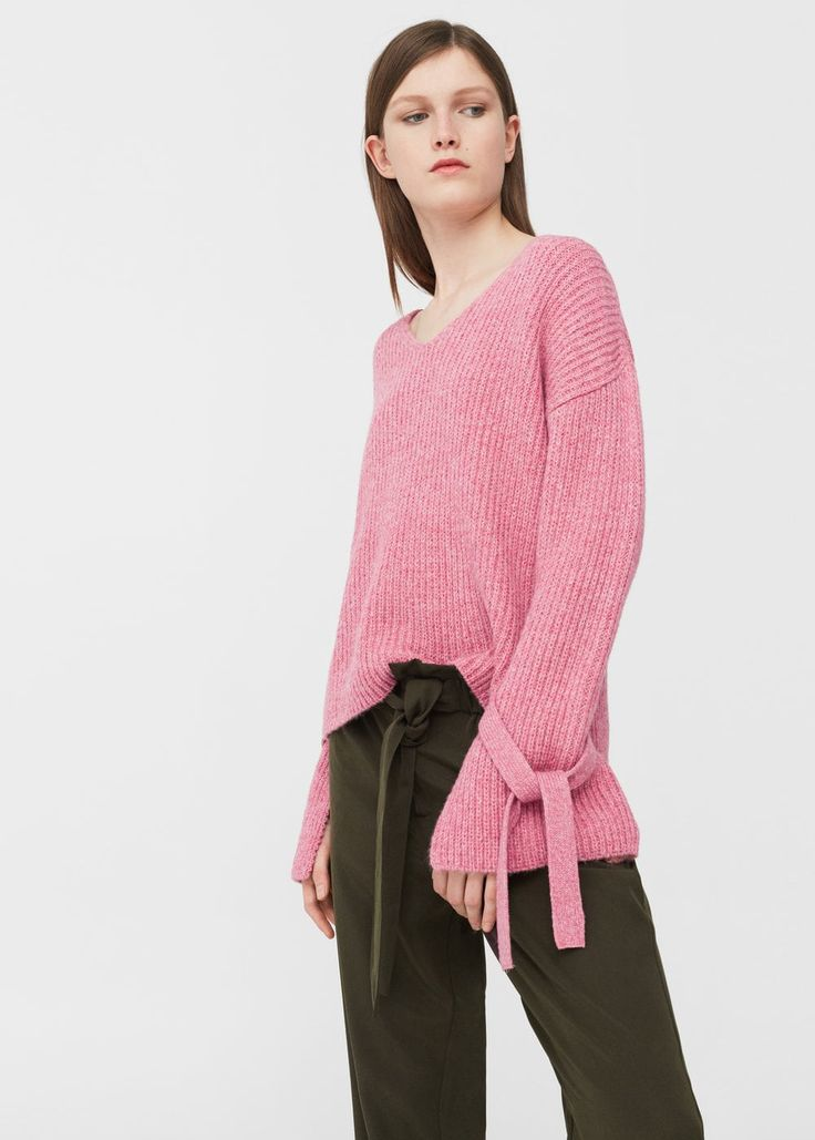 Decorative bows sweater -  Women | MANGO USA