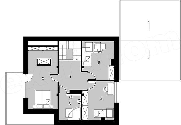 Projekt domu Arklow - Ładny Dom