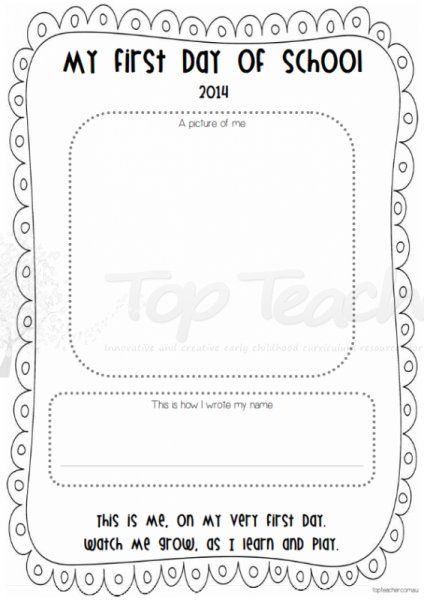 UPDATED FOR 2015 ~ First day of school - name writing and self portrait   Top Teacher - Innovative and creative early childhood curriculum resources for your classroom