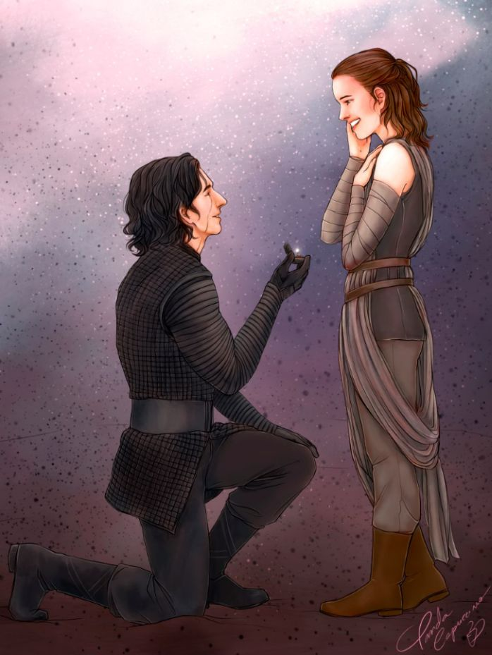 "chrysalis-jade: ""Commission for my fanfic, You Are Mine. https://www.fanfiction.net/s/12771133/1/You-Are-Mine Here is my commissioned piece, made by the lovely @panda-capuccino . I realized, searching for Reylo images, that there were only 2 pieces..."