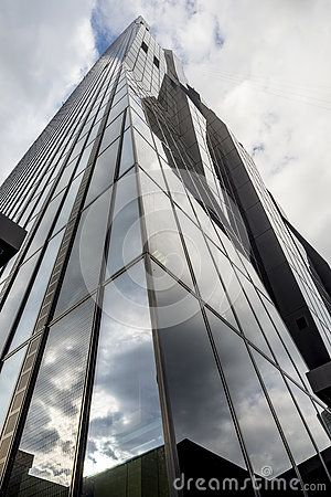 DC tower 1 - Contemporary Postmodern skyscraper in Vienna Austria - Donau City Towers