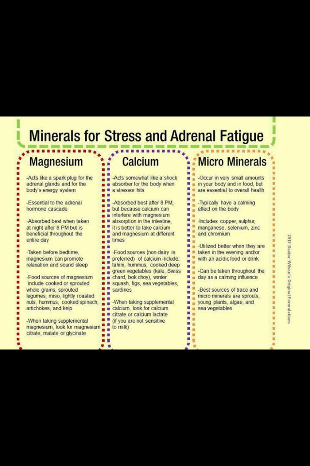 Minerals for Stress & Adrenal Fatigue