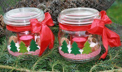 Winterwindlicht Filztannenbaum-Weihnachtswindlicht von Deko-TU-Shop auf DaWanda.com
