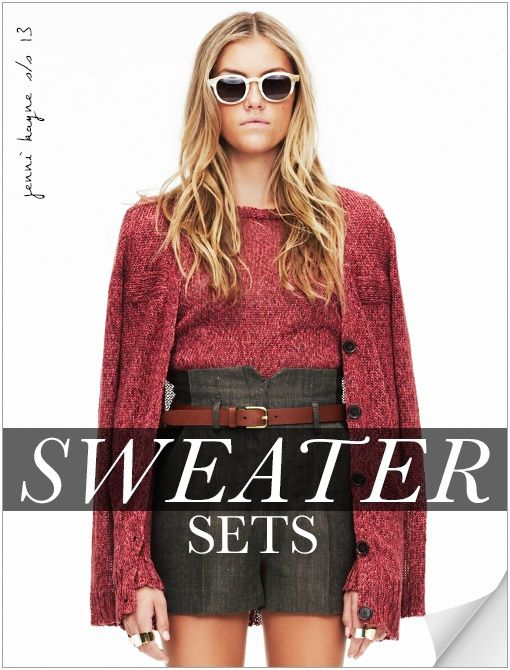 who would have thought a sweater set would look this cool... totally trying this trend.