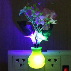 #Banggood Романтический цветок вишни LED контроль спальне ночной свет лампы декор датчик (1023146) #SuperDeals