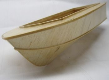a finished rc boat hull suitable for beginners to model boat building