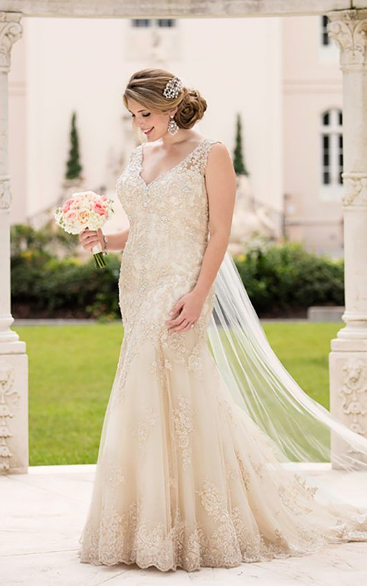Backless Wedding Dress By Stella York In 2018 Plus Size Dresses Pinterest And Gowns