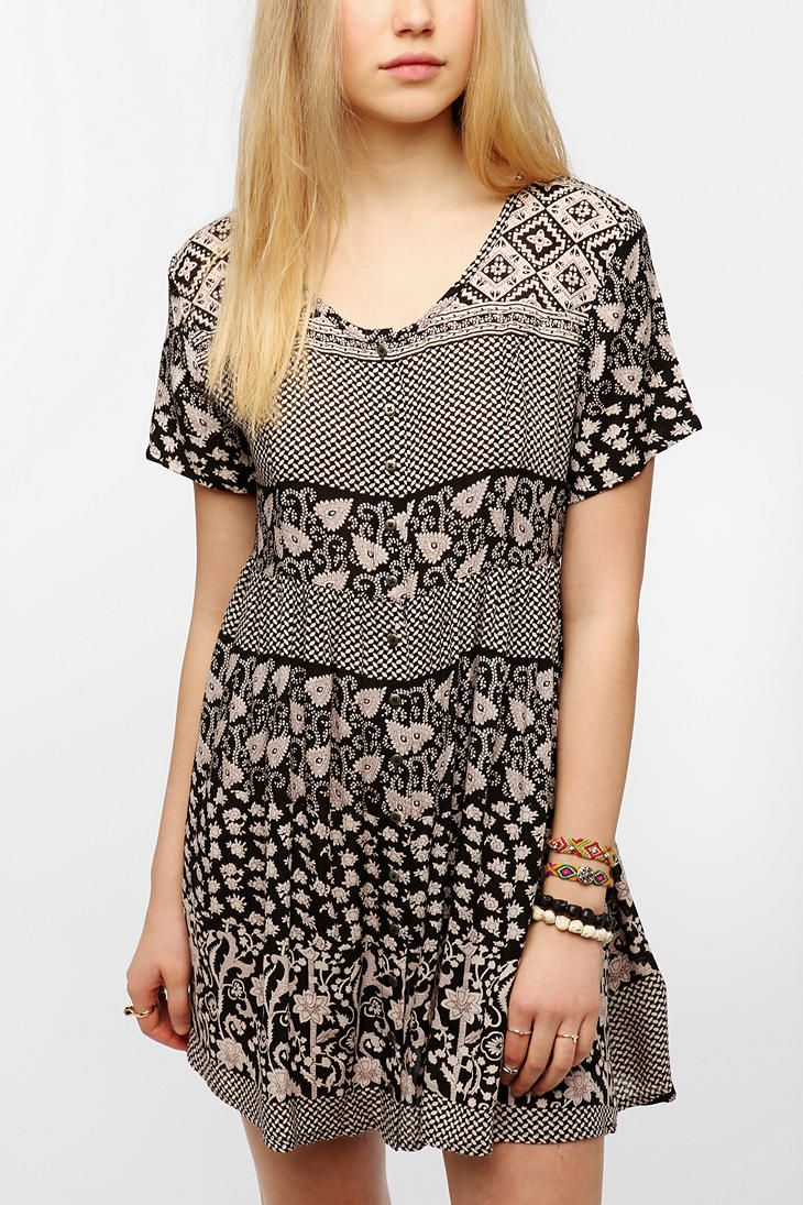 MINKPINK Buttondown Babydoll Dress    @Urban Outfitters