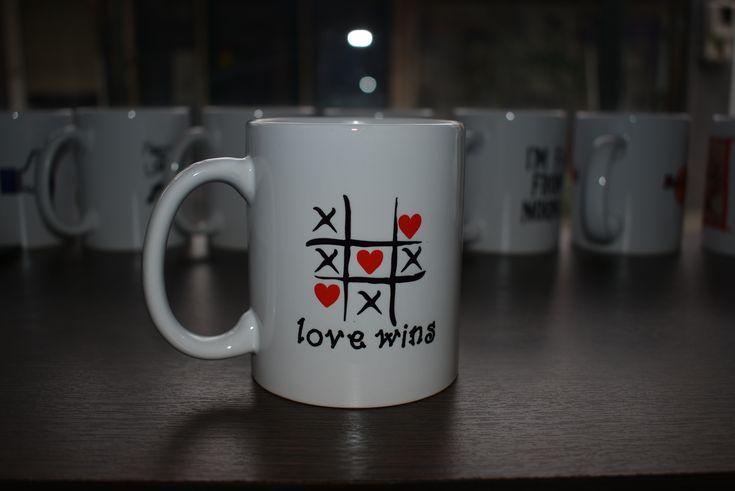 Love Wins Mug by GeeSpot www.geespot.gr phone order 25310.30225 email order geespot@mail.com