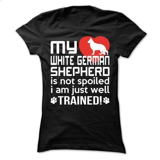White German Shepherd - #design tshirt #men t shirts. MORE INFO => https://www.sunfrog.com/Pets/White-German-Shepherd-63109277-Ladies.html?60505