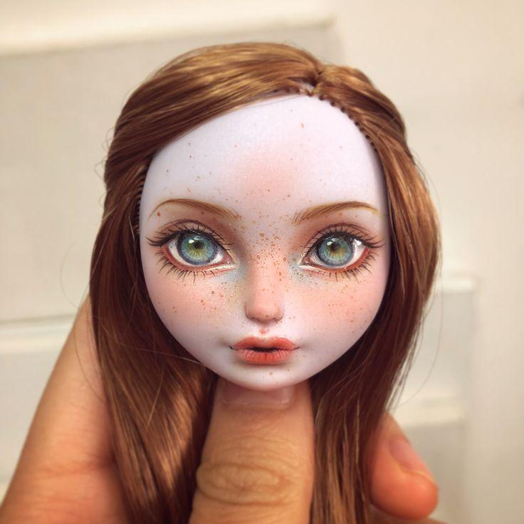我很喜欢的一个影仙子,但是头发被放在发热板上烫枯了,很可惜#everafterhighdolls #everafterhigh #eah #repaint #repaintdoll #makeupdolls #artdoll #ooak