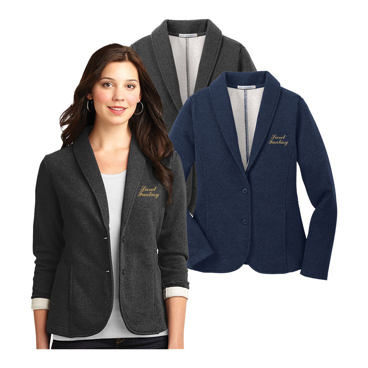 Add a professional touch to our Port Authority Ladies Fleece Blazers with our imprint services! You can easily add your company's logo with embroidery or screen printing.  For more information, see: www.nyfifth.com/screenprinting_embroidery.php  #corporateapparel #blazer
