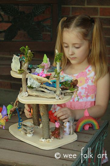Win a Make-Your-Own-Fairy-Treehouse Kit from Bella Luna Toys and Wee Folk Art!Gardens Ideas, House Buildings, Crafts Ideas, Fairy Houses, Fairies House, House Kits