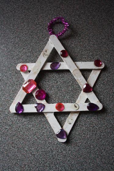 popsicle stick star ornament