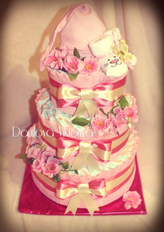Подарки для новорожденных, торты из подгузников (не продажа!) - Сообщество «Рукоделие» / Рукоделие - рукоделие для новорожденных