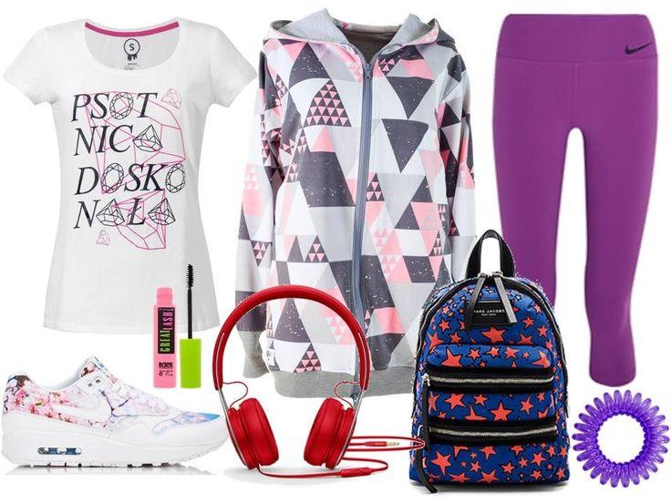 Sportowa jesień! Stylizacje z koszulkami  #funandrebel #media #streetwear #piekuo #stylizacje #sport #stylizacje #moda #tshirt #koszulka #polskidesign