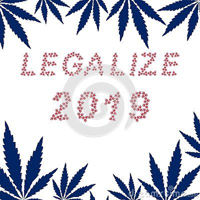Vector Illustration For Legalize Marijuana In 2019 From White Triple