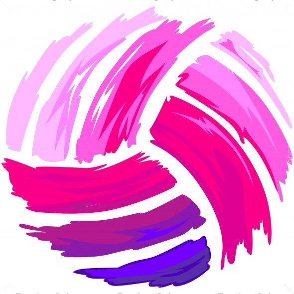 Pink Volleyball Shirt Art                                                       …