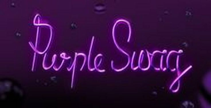 'PURPLE SWAG'                                                                                                                     NEON SIGN                                                                                                                     ๑෴MustBaSign෴๑