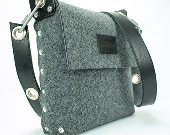 Messenger Bag Satchel bag / Felt messenger bag / across by Rambag