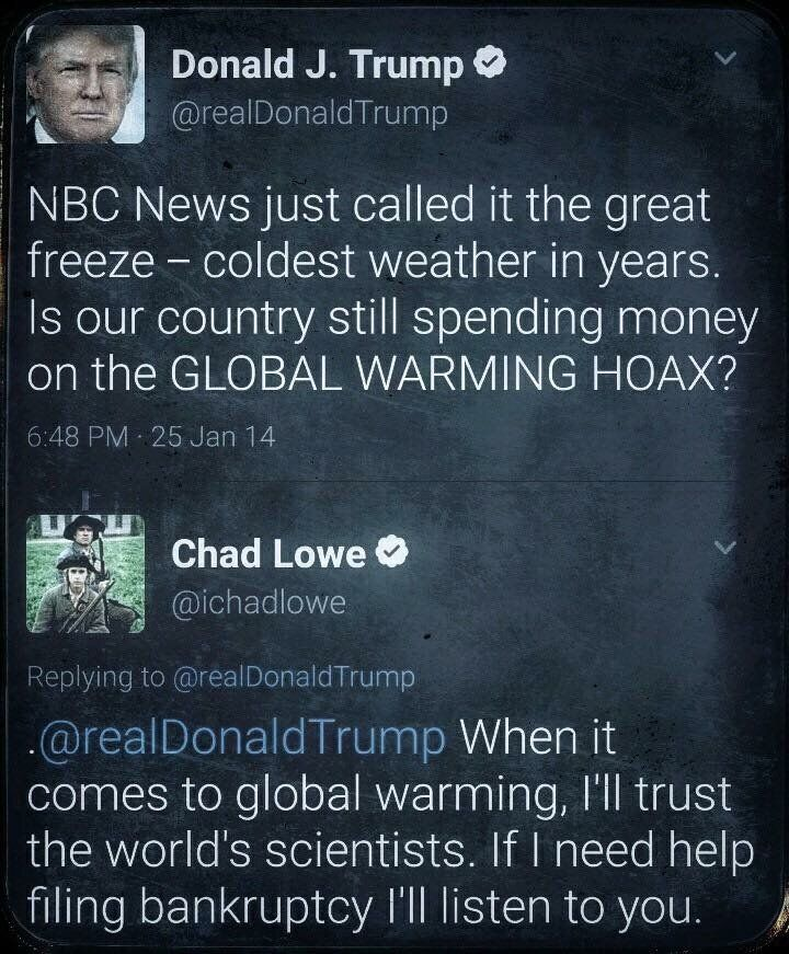 Unbelievable! Trump is too stupid to know how much he doesn't know.