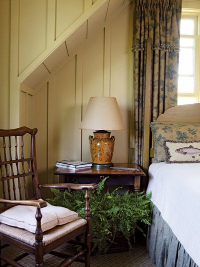 Guests are treated to a cozy bedroom filled with furniture and other finds that Frank has collected over the years.