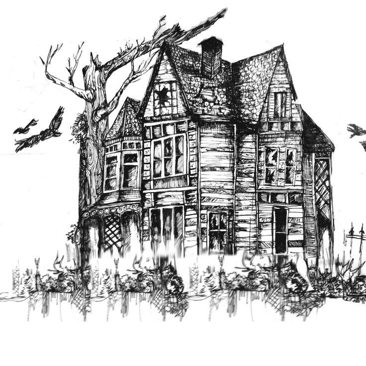 Haunted House Illustration Series | My Art | House ...