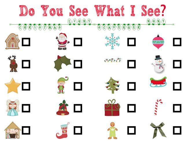 christmas light scavenger hunt for kids who can't read yet