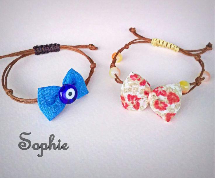 #bow #bracelets #handmade #evileye #handmadegreece #jewelry  χειροποίητα βραχιόλια με φιογκάκια κ μακραμέ κούμπωμα