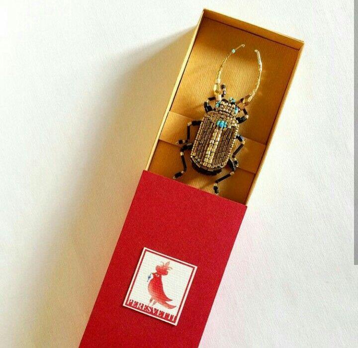 Beetle broach