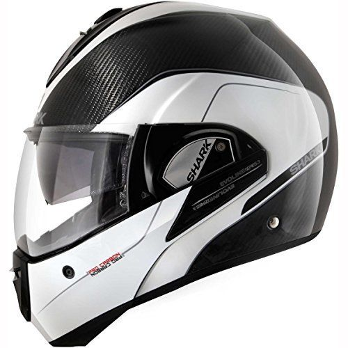 Shark – Casque moto – Shark Evoline PRO Carbon DKS: Shark – Moto casques – Shark Evoline PRO Carbone DKS – SHARKTOOTH & reg; Prêt – Système…