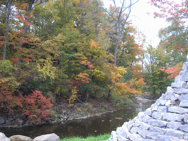 Akron falls Park- fall foliage 2010