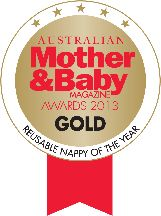 Voted as ★Best Reusable Nappy of the Year★ ...this is our Gold Rosette!!