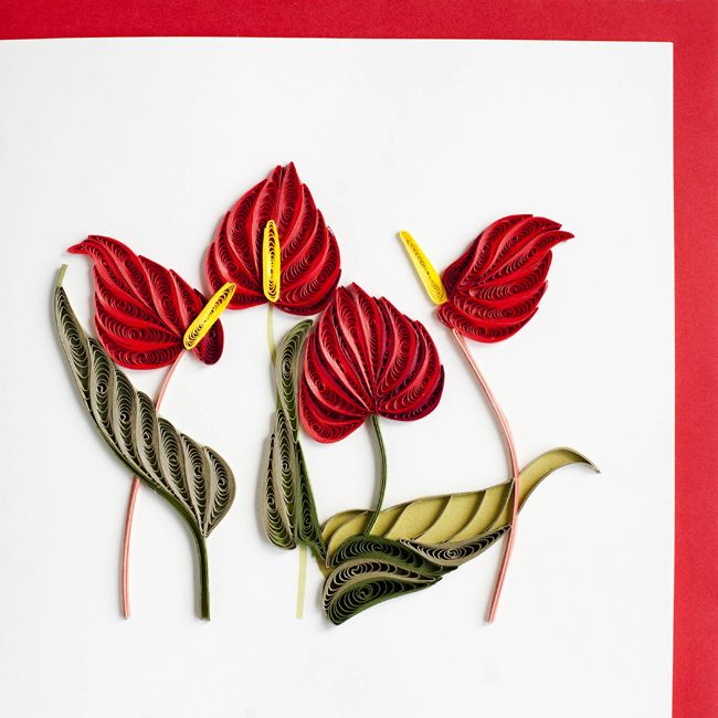 Flamingo Flower by Quilling Card