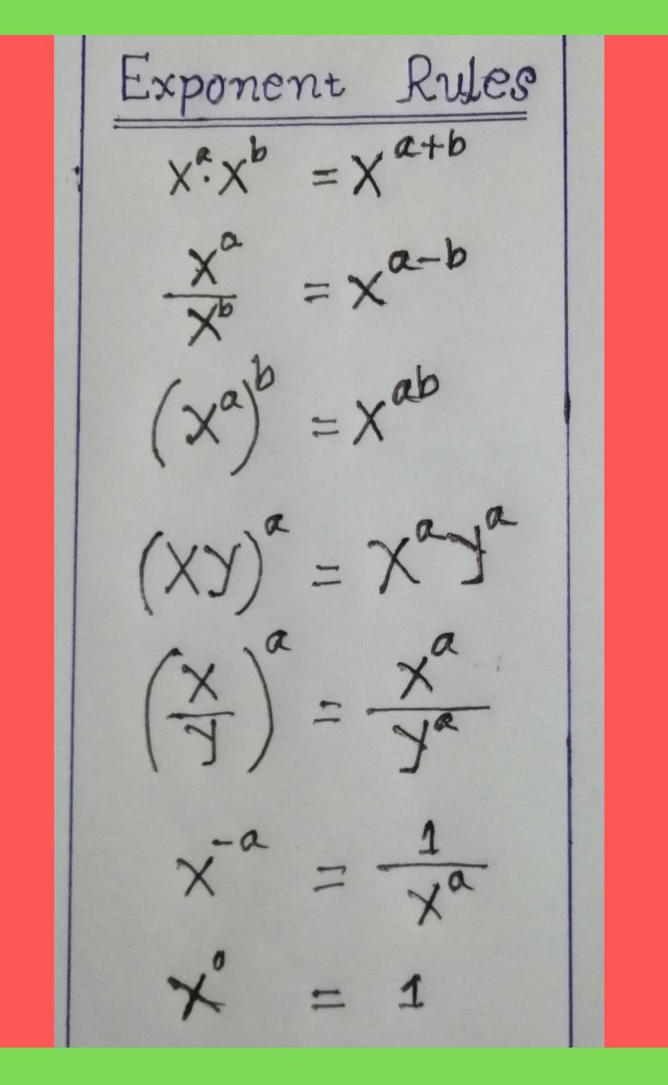 What Are The Main Exponent Rules Teaching Math Learning Math Learning Mathematics What are rules for adding exponents