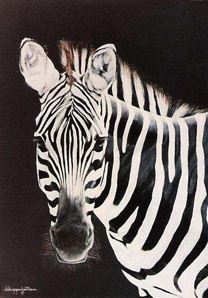 Taylor's Zebra Painting Art Print by DiDi Higginbotham   Society6