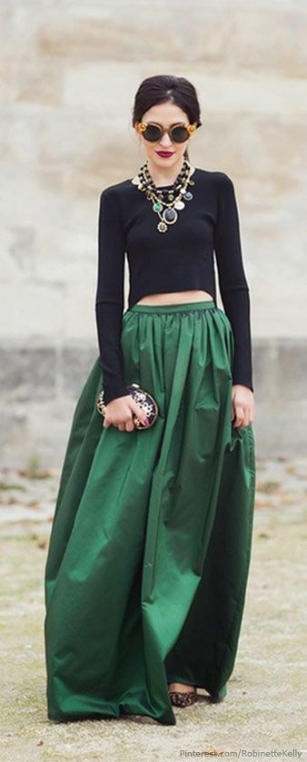 Dressy Street Style | Emerald Green