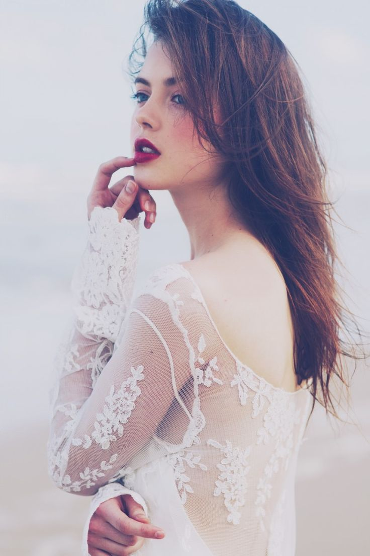 The LANE's Velvet Heart Editorial. Amanda Garrett Lace Wedding Dress. (instagram: the_lane)