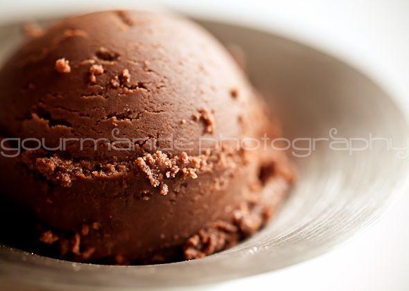 Chocolate Gelato. It's a different kinda of ice cream...Mmm