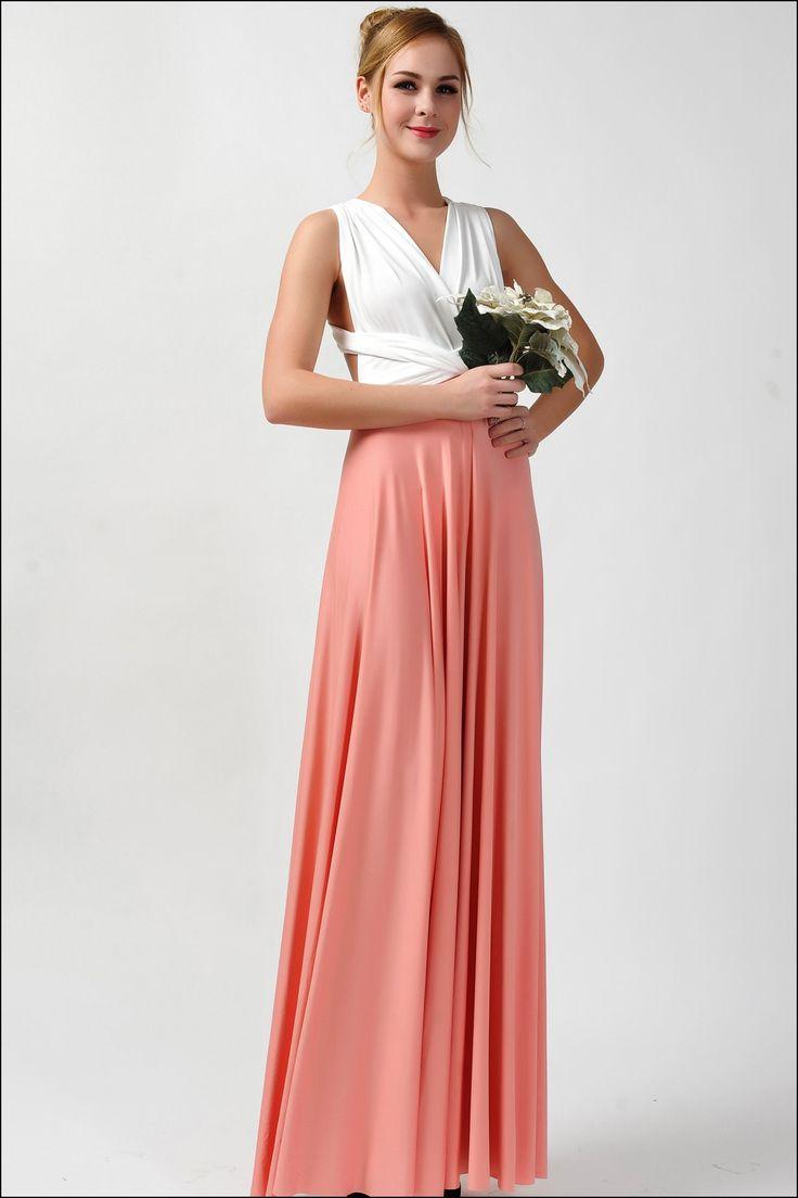 Coral Maxi Dresses Bridesmaid