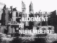 Judgment at Nuremberg, 1961, Spencer Tracy, Burt Lancaster, Richard Widmark, Marlene Dietrich, Judy Garland, Montgomery Clift, William Shatner, dir: Stanley Kramer