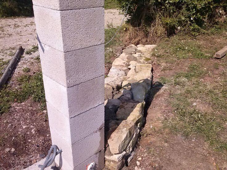 """Résultat de recherche d'images pour """"portail + mur en pierre"""""""