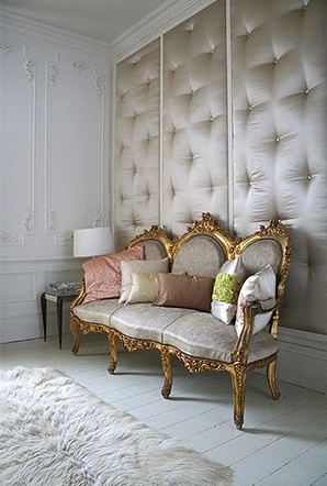 Just The Right Balance Of Elegance And Rough Texture.and Everyone Needs A  Tufted Silk Upholstered Wall Right?