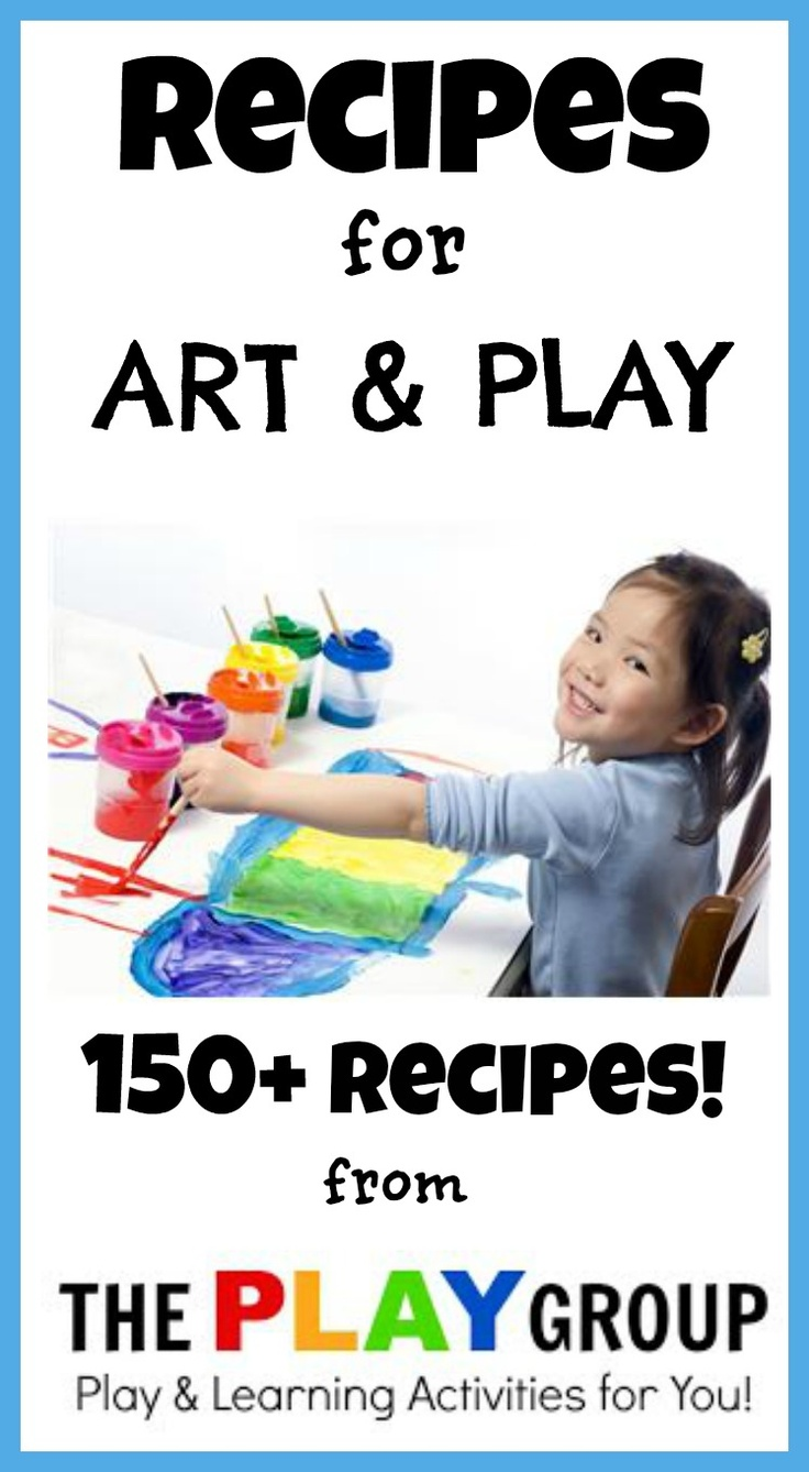 OVER 150 art & PLAY recipes for kids!  Need a recipe?  It's here!   I can't wait to try some of these,  I think the parents will have just as much fun as the kids