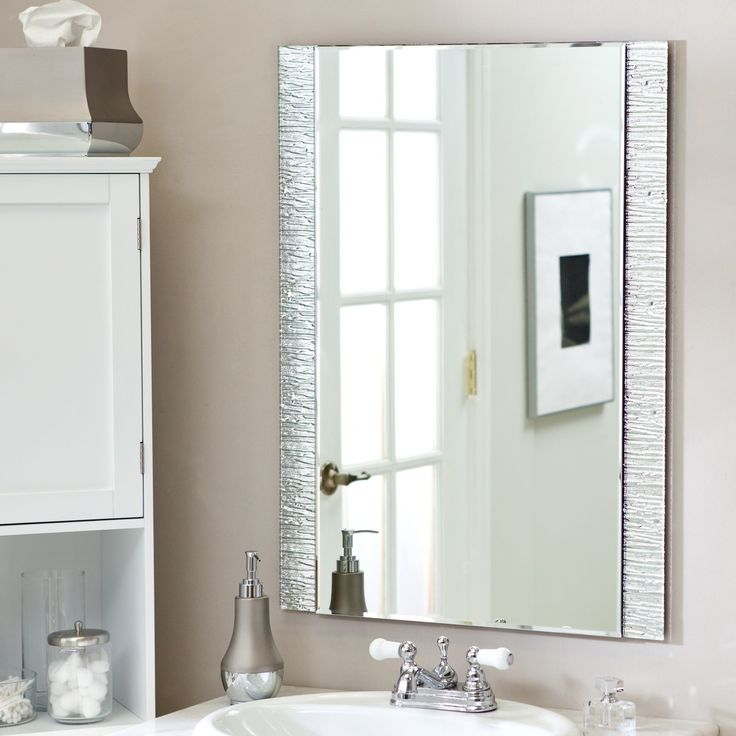 Bathroom Mirror Glued To Wall best 20+ mirror without frame ideas on pinterest | in wall gun