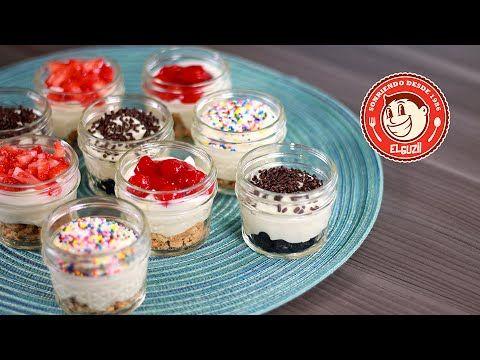 ¡CHEESECAKES SIN HORNO! - Cómo hacer Mini Cheesecakes para llevar - El G...