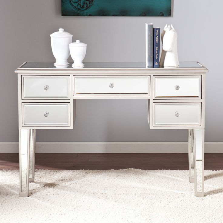 Upton home monroe mirrored console table shopping the best deals on coffee - Mirrored console table overstock ...