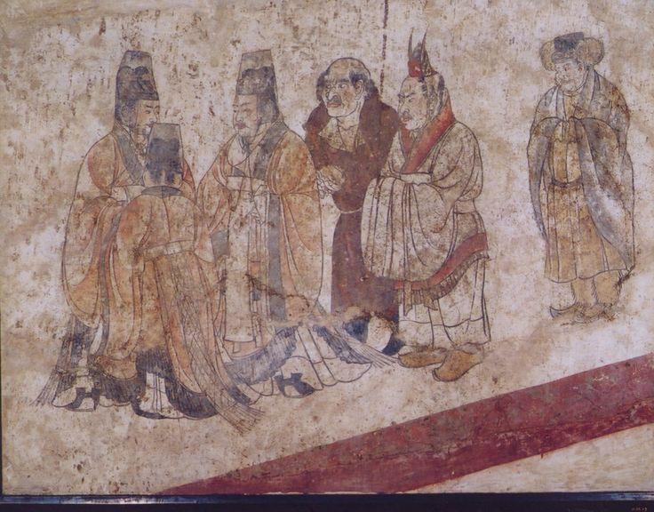 唐 章懷太子墓壁畫