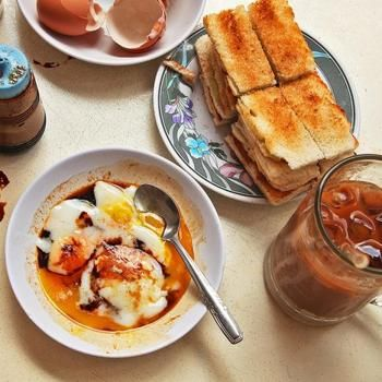 Singapore-Style Soft Cooked Eggs With Kaya Jam and Toast Recipe